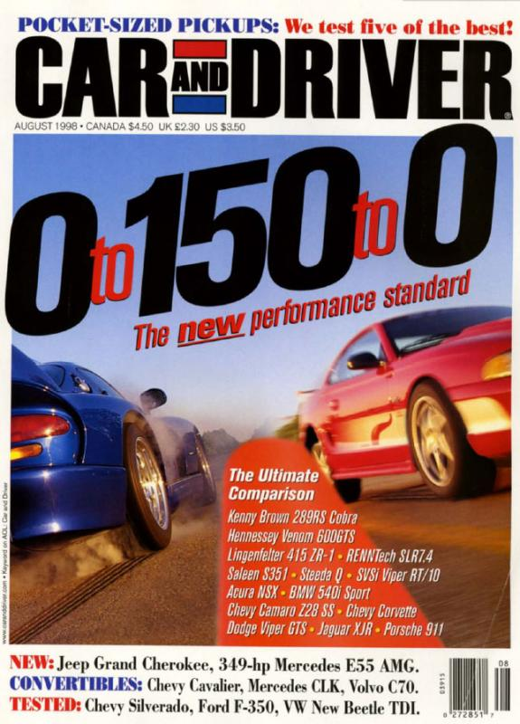 Car and Driver - August 1998