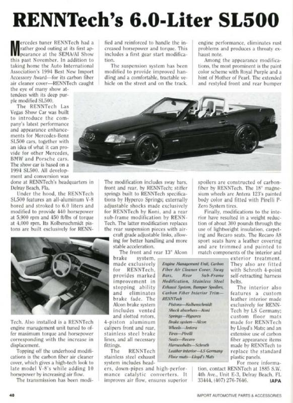 Import Automotive Parts - March 1995